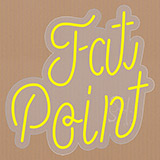 Fat Point Contoured Clear Backing Neon Sign