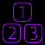 1 2 3 Neon Sign