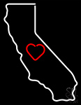 California Neon Sign