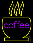 Coffee With Cup Neon Sign
