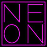Ne On Neon Sign