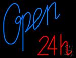 Open 24h Neon Sign