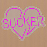 Sucker Contoured Clear Backing Neon Sign