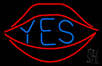 Yes With Red Lips Neon Sign