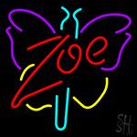 Zoe Butterfly Neon Sign