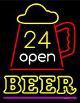 24 Open Beer Neon Sign