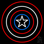 Captain America Shield Neon Sign