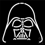 Darth Vader Star Wars White Neon Sign