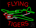 Flying Tigers Airplane Neon Sign