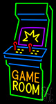 Game Room Arcade Cabinet Neon Sign