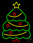 Green Christmas Tree Neon Sign