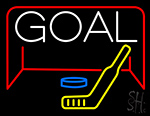 Hockey Goal Neon Sign
