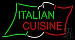 Italian Cuisine Neon Sign