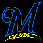Milwaukee Brewers M Logo LED Neon Sign