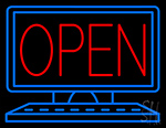 Open Desktop Computer Neon Sign