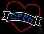 Open Heart Neon Sign