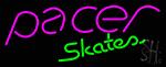 Pacer Skates Logo Neon Sign