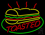 Subway Toasted Logo Neon Sign