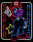 Super Mario Neon Sign