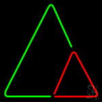 Triangles Neon Sign