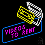Videos To Rent Neon Sign