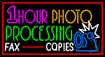 1 Hour Photo Processing Neon Sign