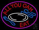 All You Can Eat Diet Catering Neon Sign