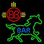Bar Horse Logo Neon Sign