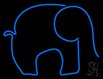 Blue Elephant Neon Sign
