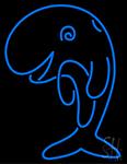 Blue Fish Neon Sign