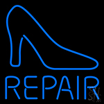 Blue Shoe Repair With Sandal Neon Sign