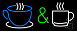 Coffee And Espresso Cups Logo Neon Sign