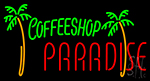 Coffee Shop Paradise Neon Sign