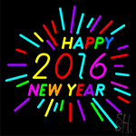 Happy 2016 New Year Neon Sign