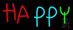 Happy Neon Sign
