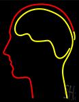 Human Head Neon Sign