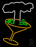 Martini Glass With Tree Neon Sign