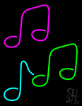 Music Notes Neon Sign