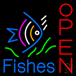 Open Fishes Neon Sign