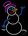 Snowman Signboard Neon Sign