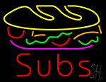Subs Food Neon Sign