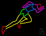 Athlete Running Neon Sign