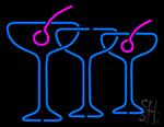 Blue Cocktails Neon Sign