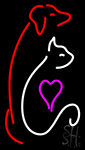 Cat Dog Logo Pet Clinic Neon Sign