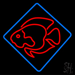 Fish Shaped Neon Sign