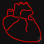 Human Heart Neon Flex Sign