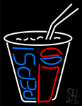 Pepsi Soda Pop Glass Beer Bar Open Neon Sign