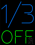 1by3 Off Neon Sign