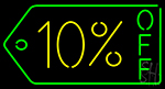 10 Percent Off Neon Sign