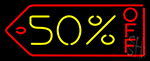 50 Percent Off Neon Sign